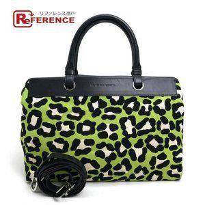 BOTTEGA VENETA Shoulder Leopard Design 2way bag Ca